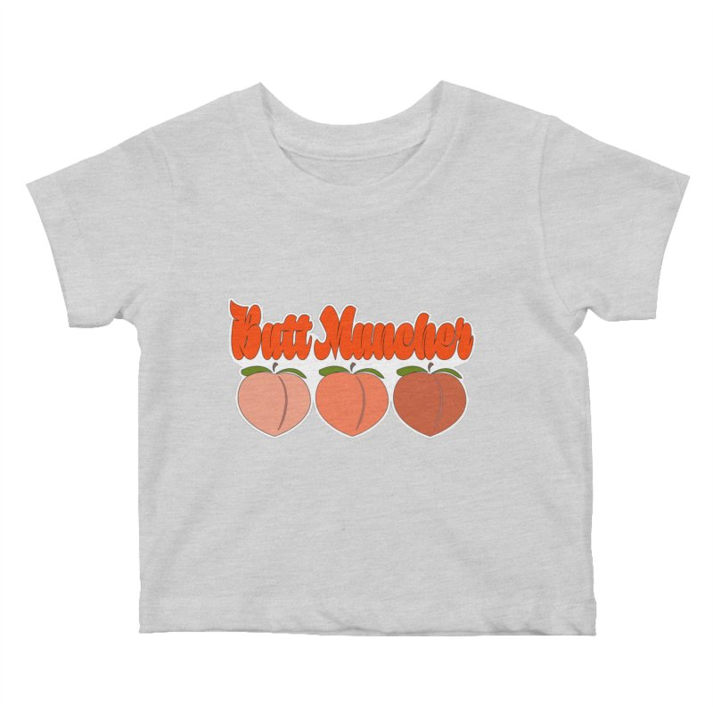 Butt Muncher Kids Baby T-Shirt by Inappropriate Wares