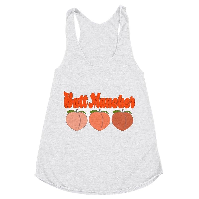 Butt Muncher Women's Racerback Triblend Tank by Inappropriate Wares
