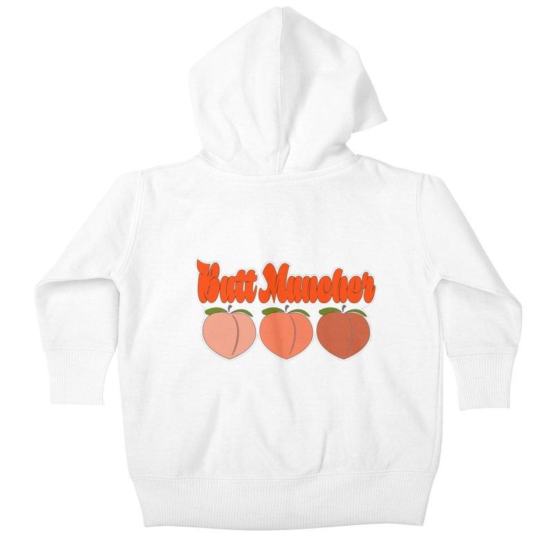 Butt Muncher Kids Baby Zip-Up Hoody by Inappropriate Wares