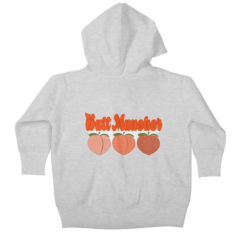 Butt Muncher Kids Baby Zip-Up Hoody by Inappropriate Wares