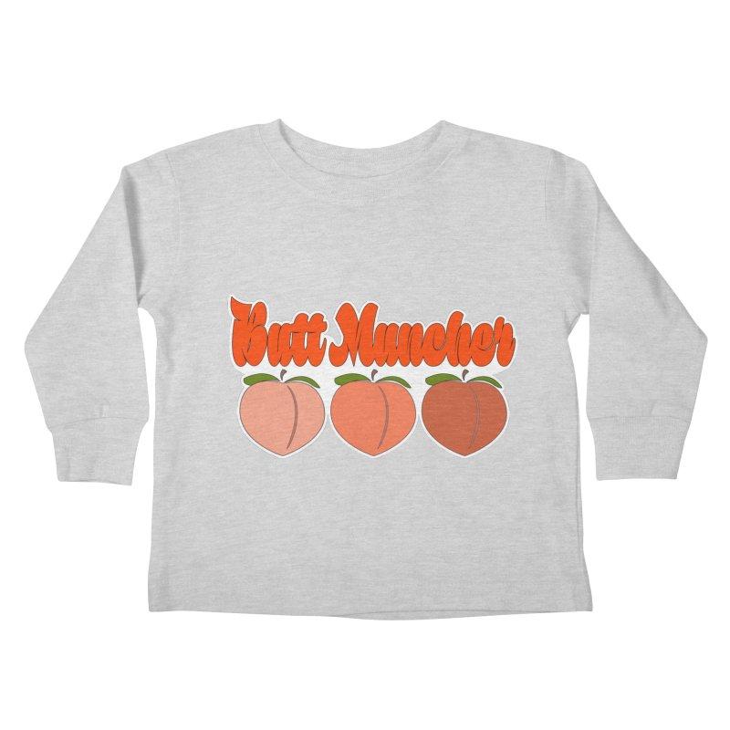 Butt Muncher Kids Toddler Longsleeve T-Shirt by Inappropriate Wares