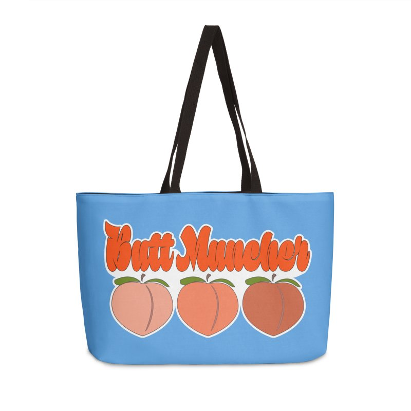 Butt Muncher Accessories Weekender Bag Bag by Inappropriate Wares