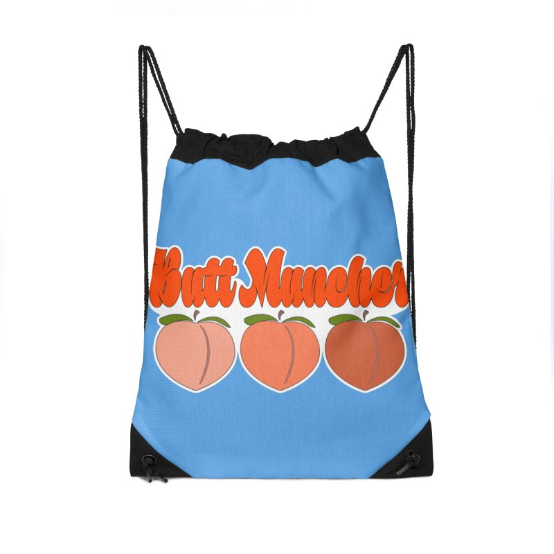 Butt Muncher Accessories Drawstring Bag Bag by Inappropriate Wares