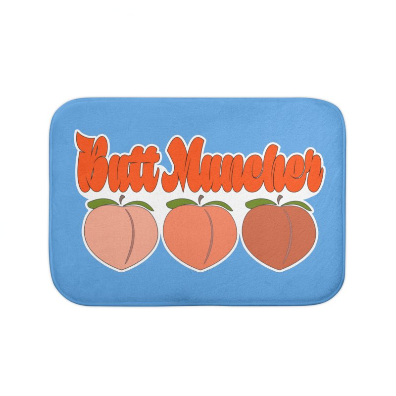 Butt Muncher Home Bath Mat by Inappropriate Wares