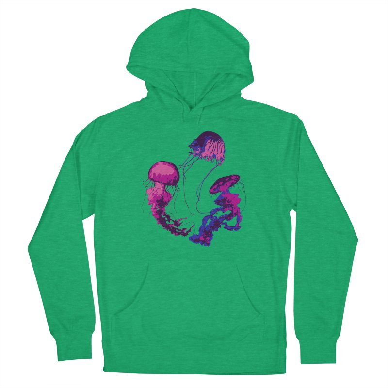 Ring O' Jellyfiish Men's French Terry Pullover Hoody by Inappropriate Wares