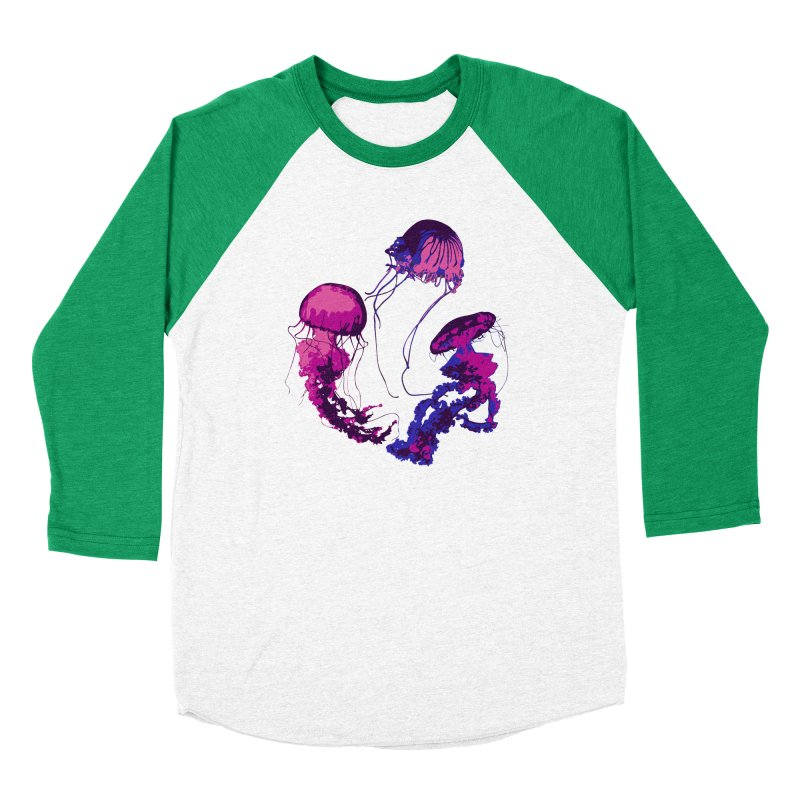 Ring O' Jellyfiish Men's Baseball Triblend Longsleeve T-Shirt by Inappropriate Wares