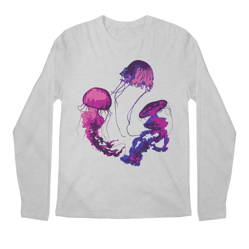 Ring O' Jellyfiish Men's Regular Longsleeve T-Shirt by Inappropriate Wares