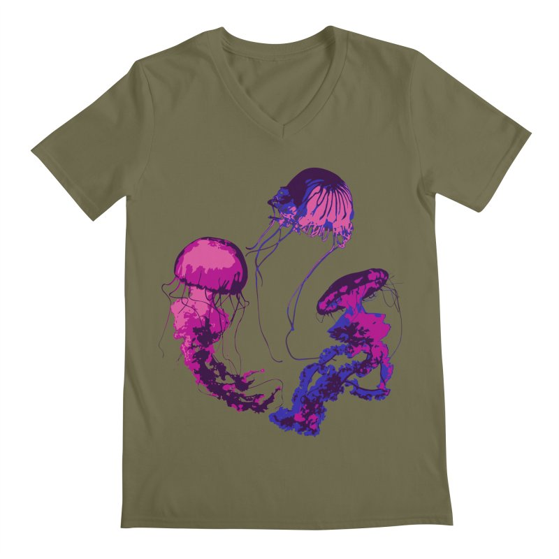 Ring O' Jellyfiish Men's Regular V-Neck by Inappropriate Wares