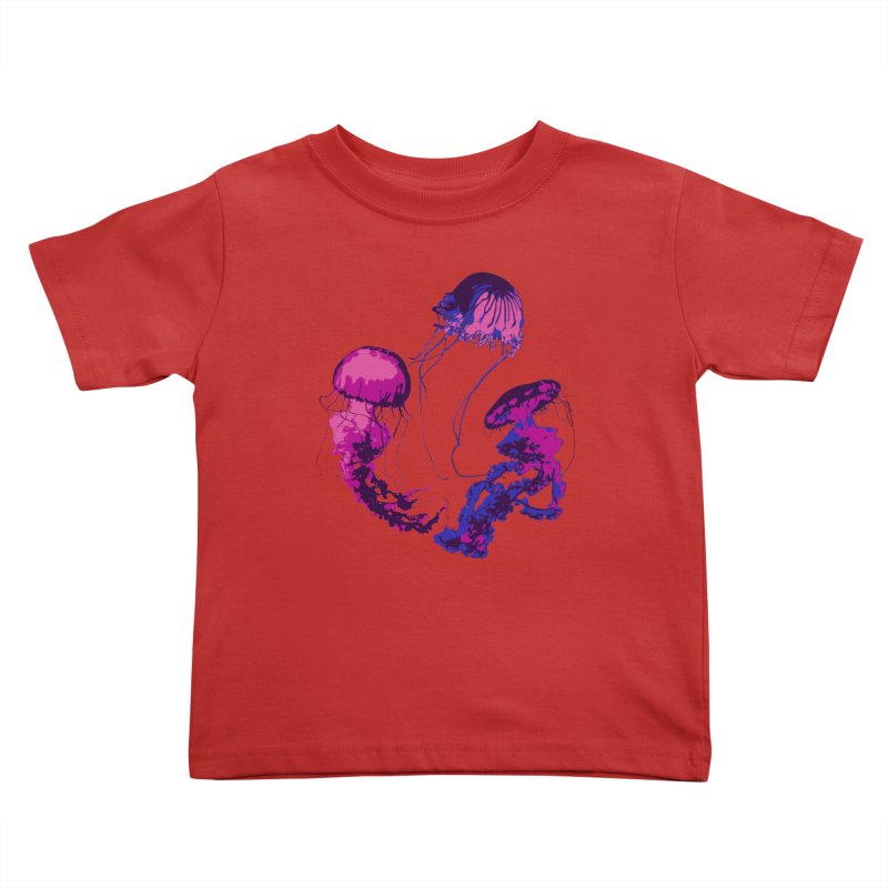 Ring O' Jellyfiish Kids Toddler T-Shirt by Inappropriate Wares