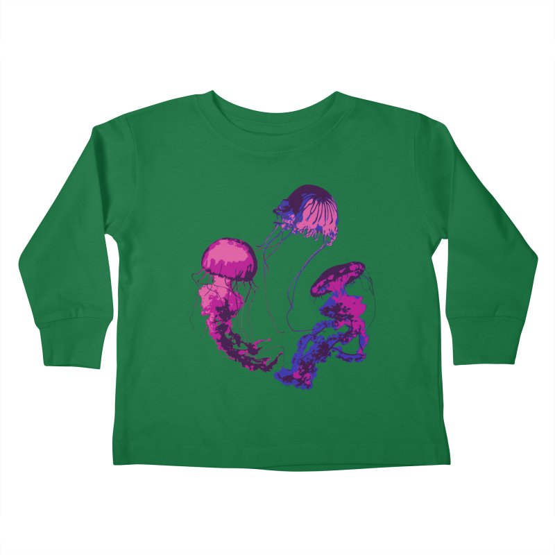 Ring O' Jellyfiish Kids Toddler Longsleeve T-Shirt by Inappropriate Wares