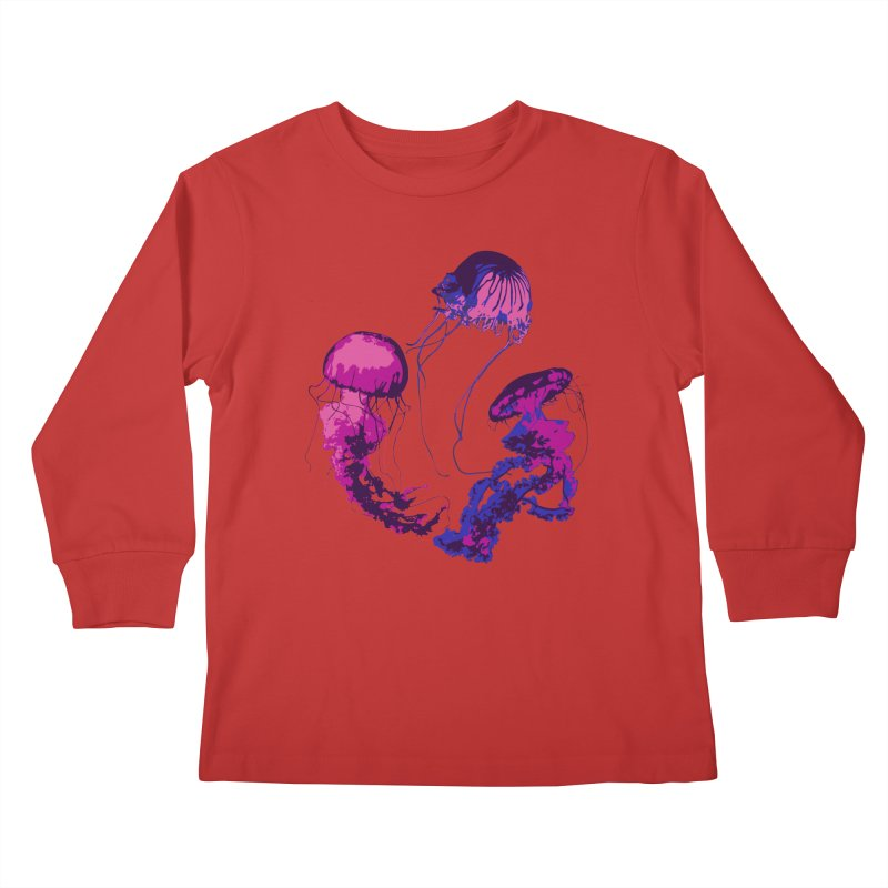 Ring O' Jellyfiish Kids Longsleeve T-Shirt by Inappropriate Wares