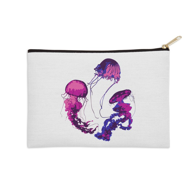 Ring O' Jellyfiish Accessories Zip Pouch by Inappropriate Wares