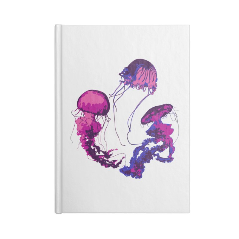 Ring O' Jellyfiish Accessories Lined Journal Notebook by Inappropriate Wares