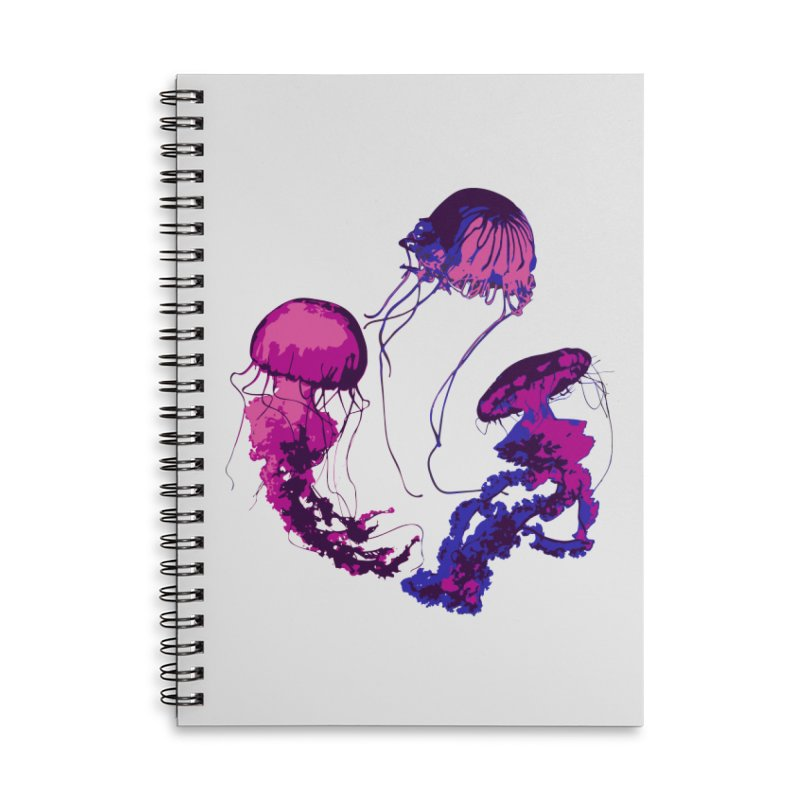 Ring O' Jellyfiish Accessories Lined Spiral Notebook by Inappropriate Wares
