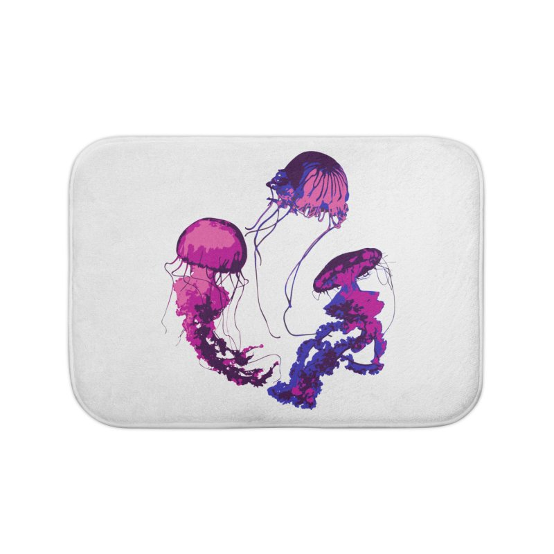 Ring O' Jellyfiish Home Bath Mat by Inappropriate Wares