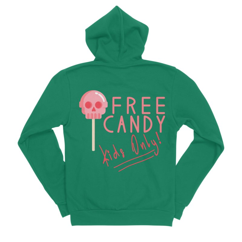 Free Candy Men's Sponge Fleece Zip-Up Hoody by Inappropriate Wares