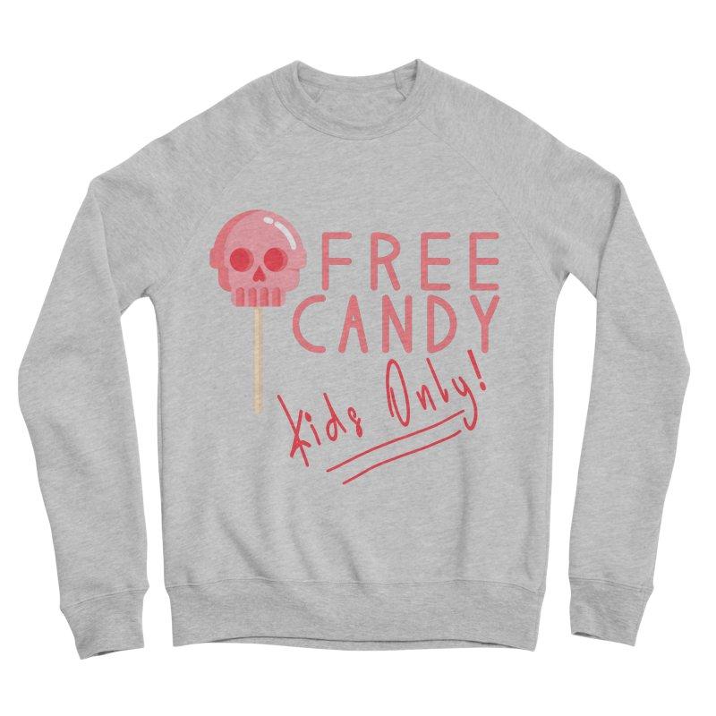 Free Candy Men's Sponge Fleece Sweatshirt by Inappropriate Wares