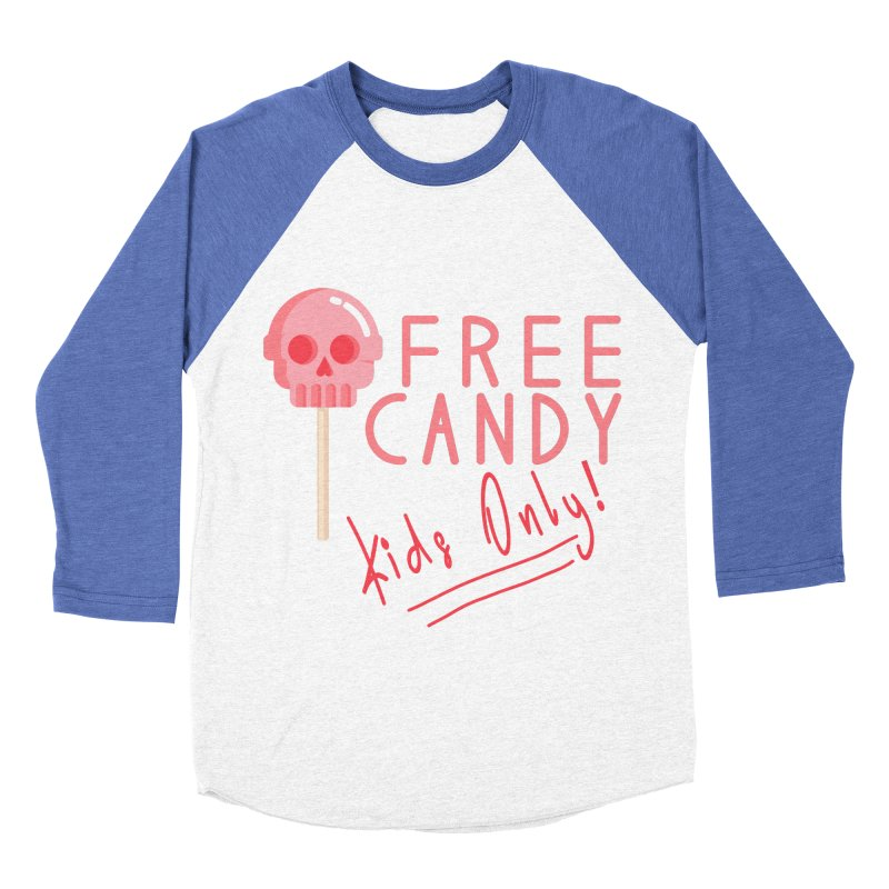 Free Candy Women's Baseball Triblend Longsleeve T-Shirt by Inappropriate Wares