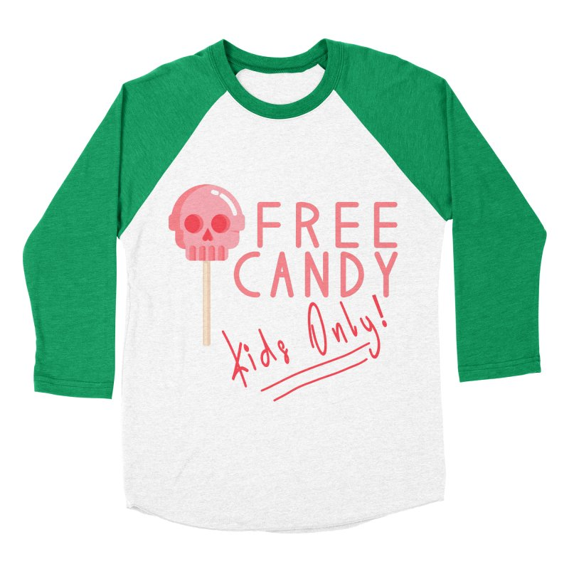 Free Candy Men's Baseball Triblend Longsleeve T-Shirt by Inappropriate Wares