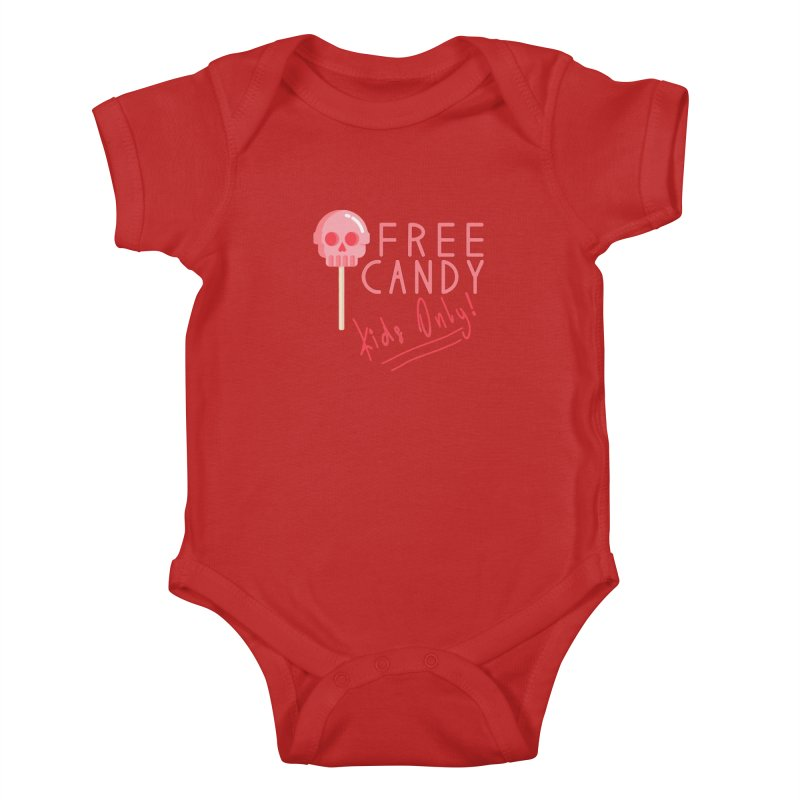 Free Candy Kids Baby Bodysuit by Inappropriate Wares