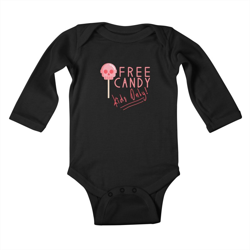 Free Candy Kids Baby Longsleeve Bodysuit by Inappropriate Wares