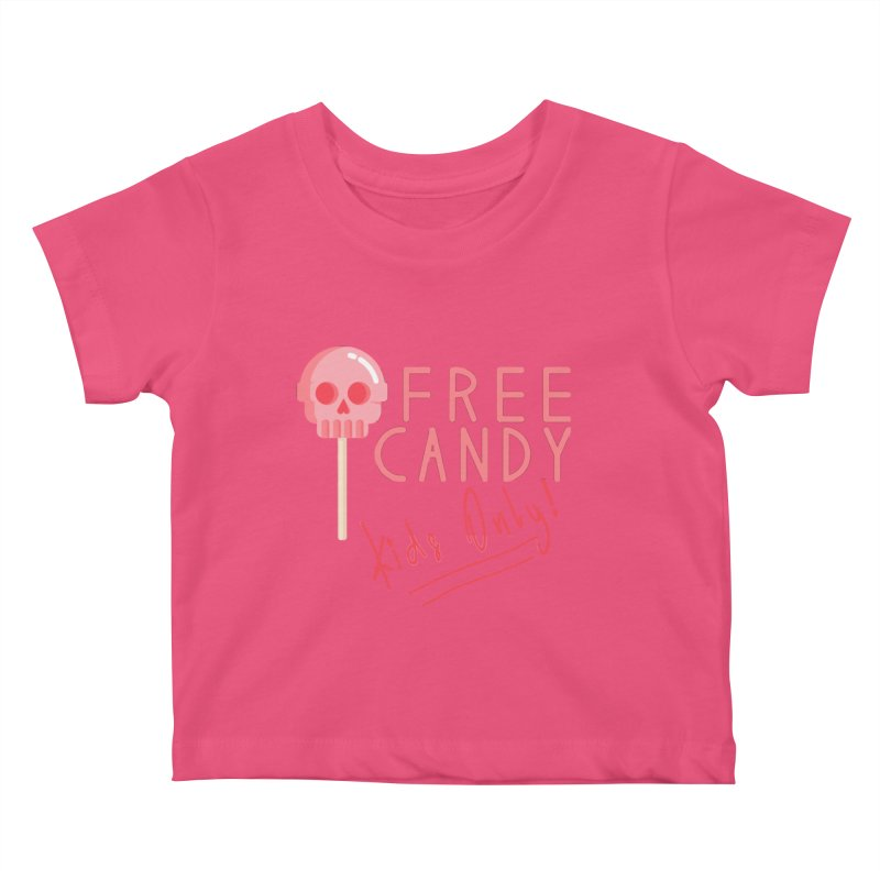 Free Candy Kids Baby T-Shirt by Inappropriate Wares