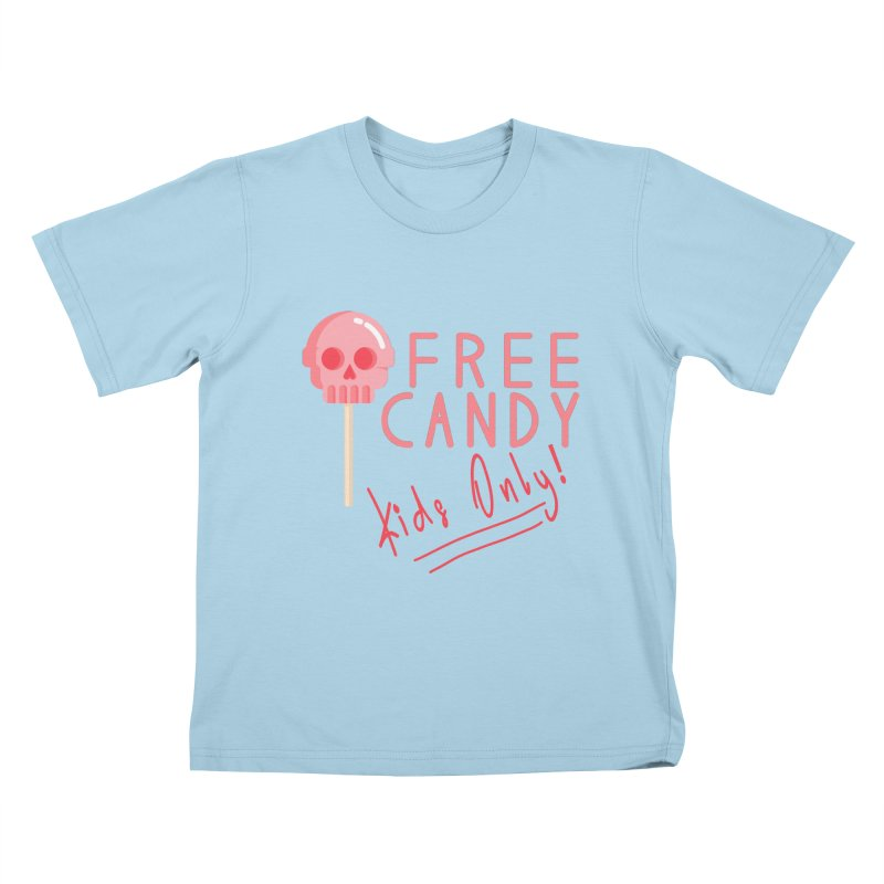 Free Candy Kids T-Shirt by Inappropriate Wares