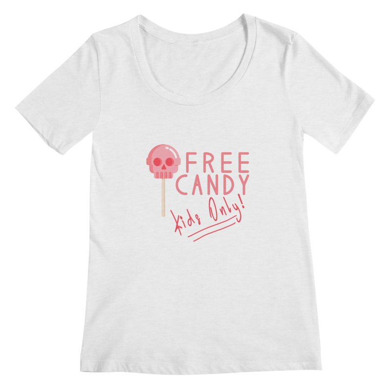 Free Candy Women's Regular Scoop Neck by Inappropriate Wares