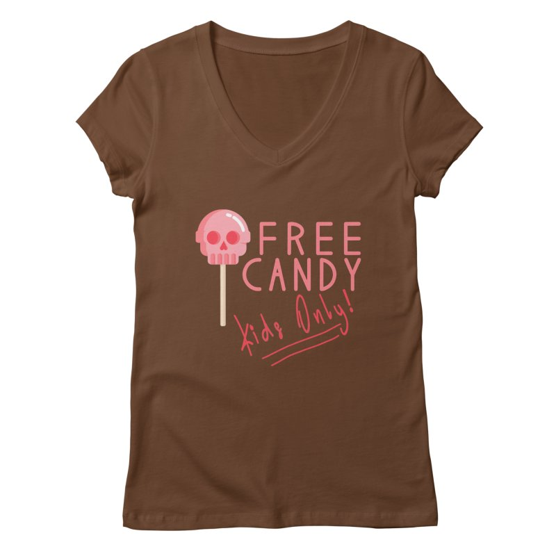 Free Candy Women's Regular V-Neck by Inappropriate Wares