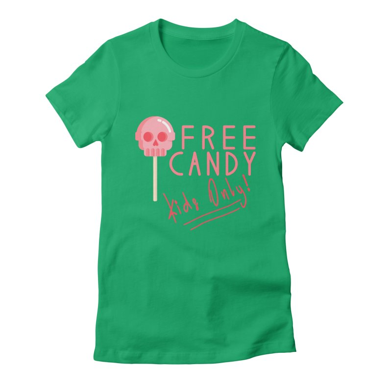 Free Candy Women's Fitted T-Shirt by Inappropriate Wares