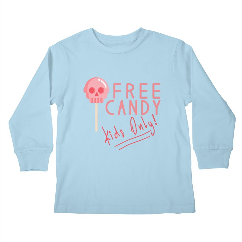 Free Candy Kids Longsleeve T-Shirt by Inappropriate Wares