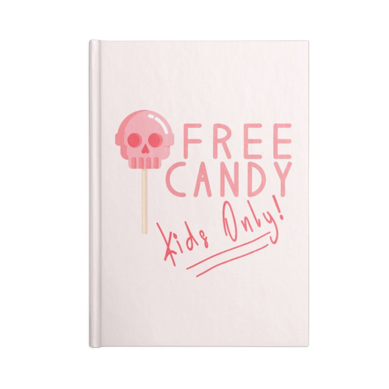 Free Candy Accessories Lined Journal Notebook by Inappropriate Wares