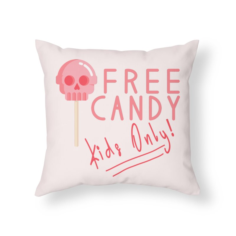 Free Candy Home Throw Pillow by Inappropriate Wares