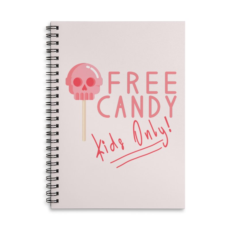 Free Candy Accessories Lined Spiral Notebook by Inappropriate Wares
