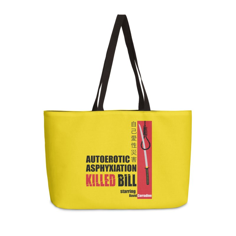 Killed Bill Accessories Weekender Bag Bag by Inappropriate Wares