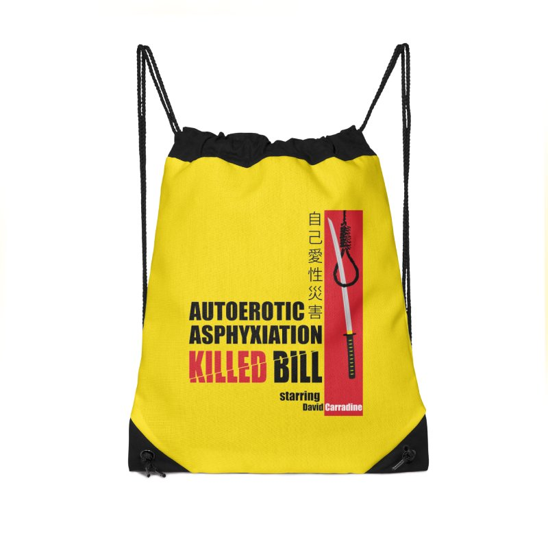 Killed Bill Accessories Drawstring Bag Bag by Inappropriate Wares