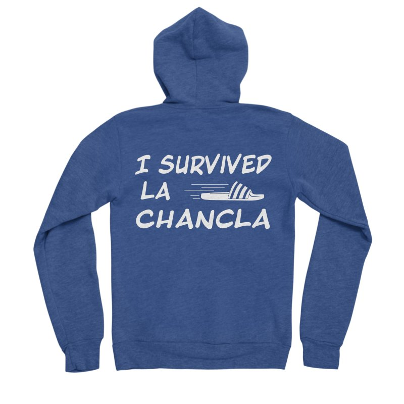 I Survived La Chancla Women's Sponge Fleece Zip-Up Hoody by Inappropriate Wares