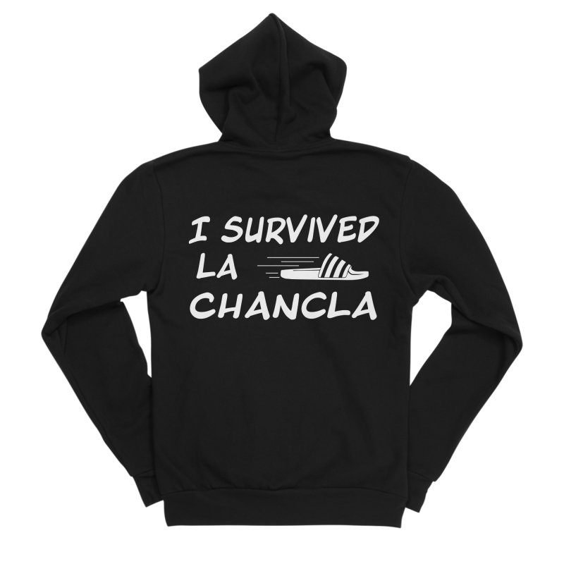 I Survived La Chancla Men's Sponge Fleece Zip-Up Hoody by Inappropriate Wares