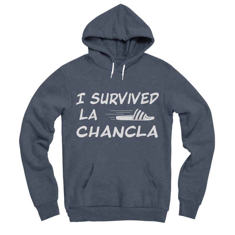 I Survived La Chancla Men's Sponge Fleece Pullover Hoody by Inappropriate Wares