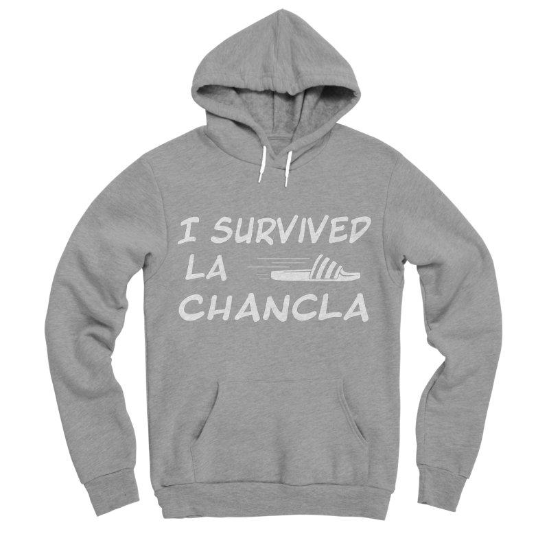 I Survived La Chancla Women's Sponge Fleece Pullover Hoody by Inappropriate Wares