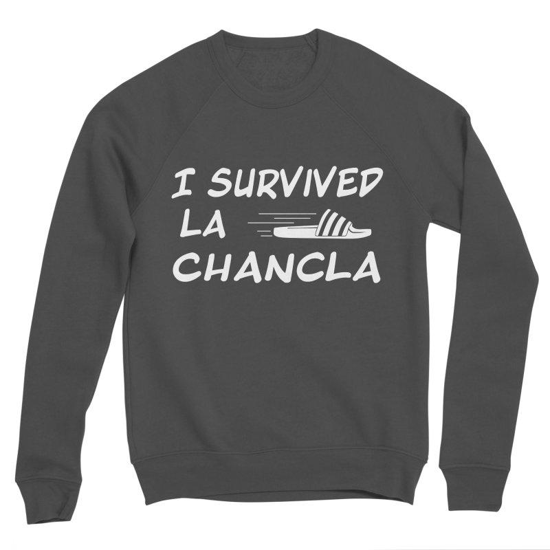 I Survived La Chancla Men's Sponge Fleece Sweatshirt by Inappropriate Wares