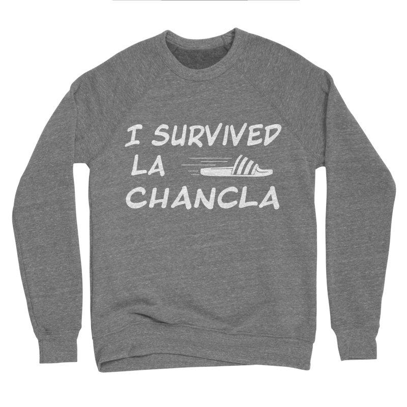 I Survived La Chancla Women's Sponge Fleece Sweatshirt by Inappropriate Wares