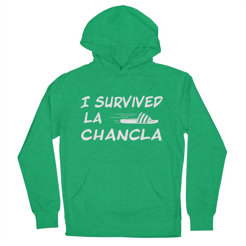 I Survived La Chancla Women's French Terry Pullover Hoody by Inappropriate Wares