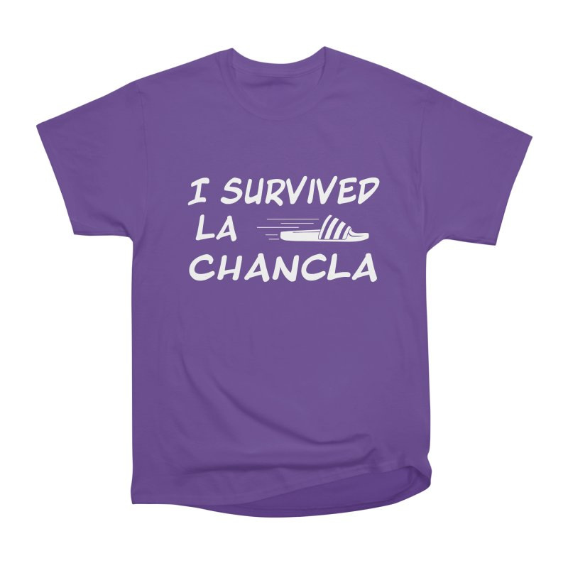 I Survived La Chancla Women's Heavyweight Unisex T-Shirt by Inappropriate Wares