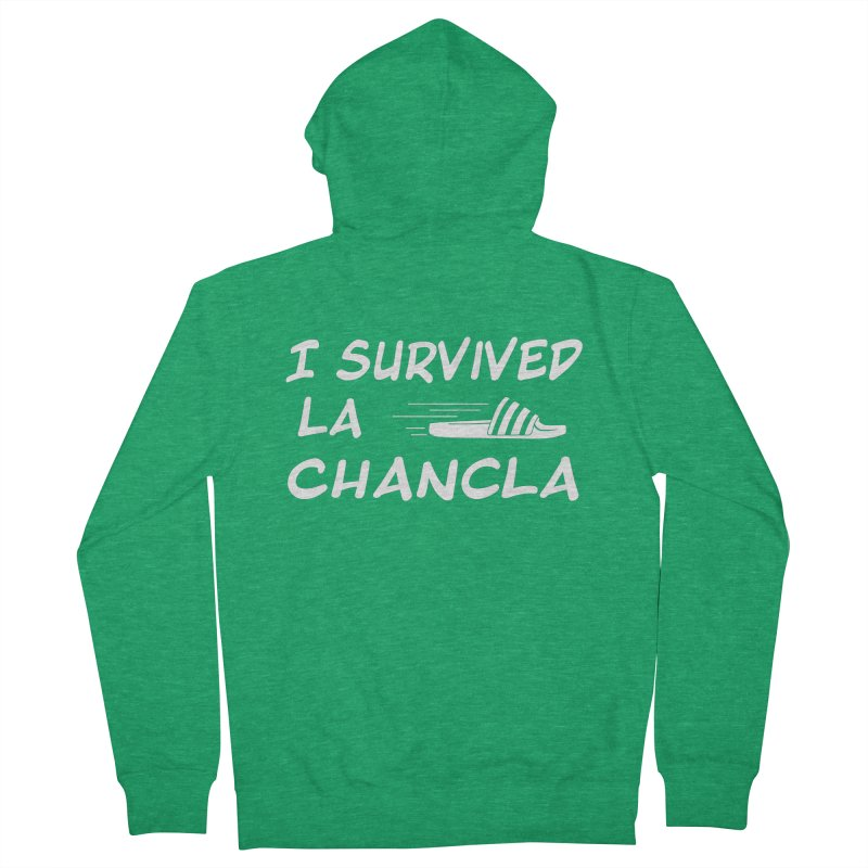 I Survived La Chancla Men's French Terry Zip-Up Hoody by Inappropriate Wares