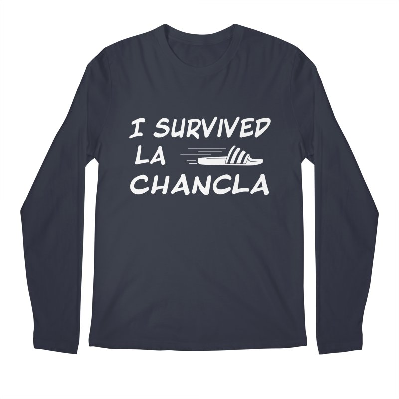 I Survived La Chancla Men's Regular Longsleeve T-Shirt by Inappropriate Wares