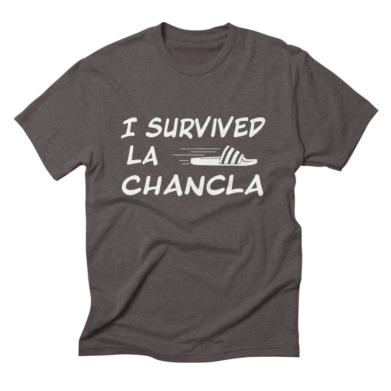 I Survived La Chancla Men's Triblend T-Shirt by Inappropriate Wares