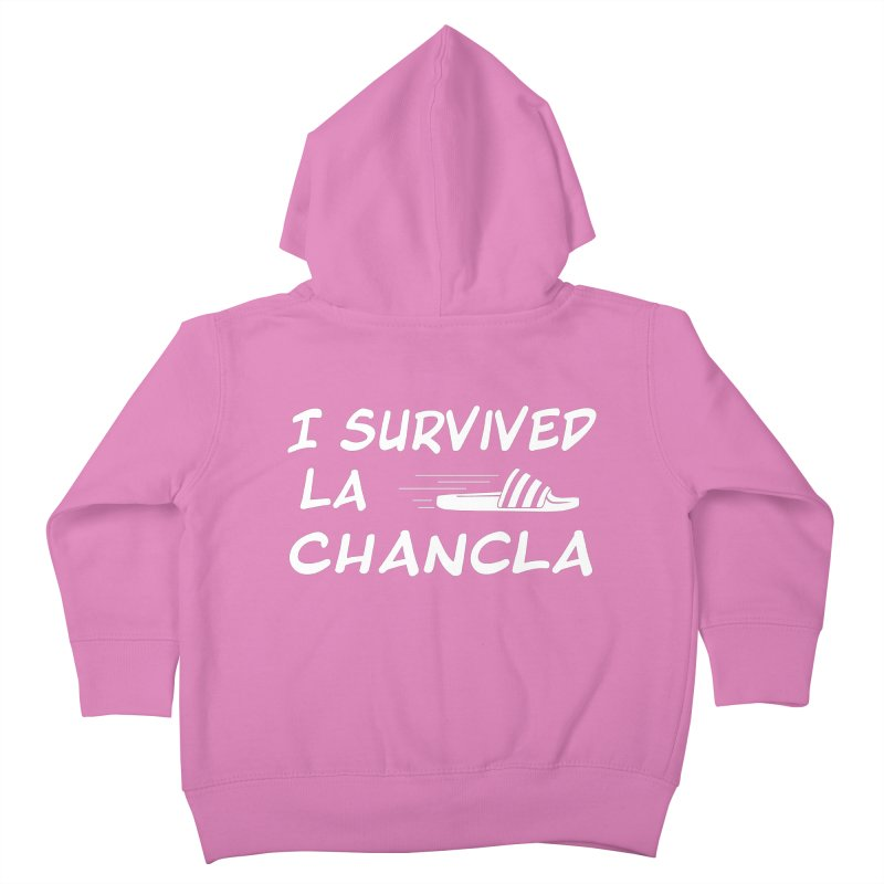 I Survived La Chancla Kids Toddler Zip-Up Hoody by Inappropriate Wares