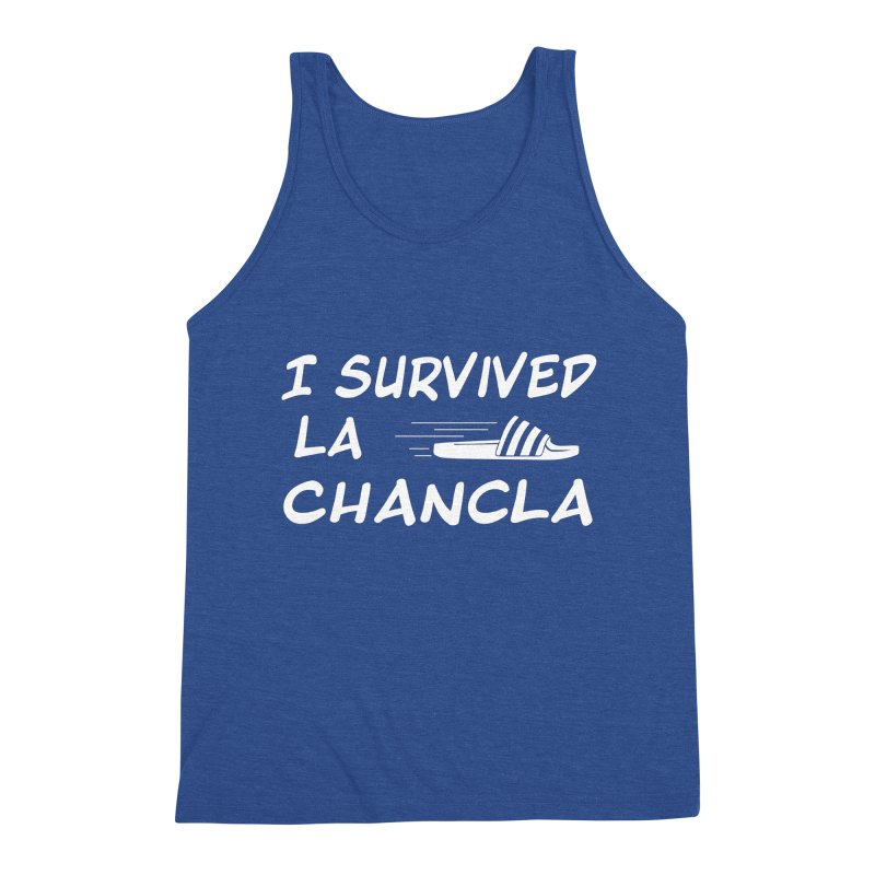 I Survived La Chancla Men's Triblend Tank by Inappropriate Wares