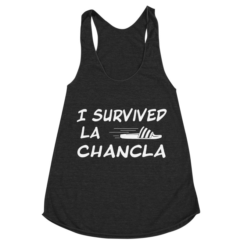 I Survived La Chancla Women's Racerback Triblend Tank by Inappropriate Wares